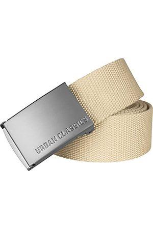 Urban classics Hombre Cinturones - Belt Canvas Unisex, Hombre y Mujer, Correa de Tela, Cinturón de Cuerda sin Agujeros, con Logo en la Hebilla Cuadrada