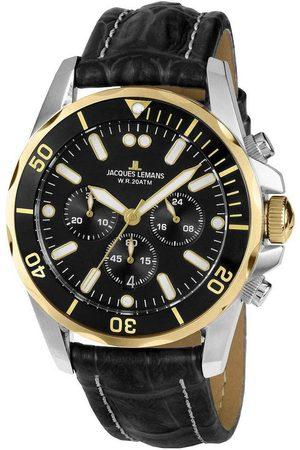 Jacques Lemans Reloj analógico 1-2091D, Quartz, 43mm, 20ATM para hombre