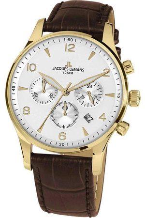 Jacques Lemans Reloj analógico 1-1654D, Quartz, 40mm, 10ATM para hombre