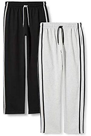 FM London Hombre Pijamas - 2-Pack Loungewear Pants Pantalones de Descanso S para Hombre