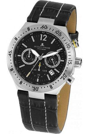 Jacques Lemans Reloj analógico 1-1837A, Quartz, 42mm, 10ATM para hombre