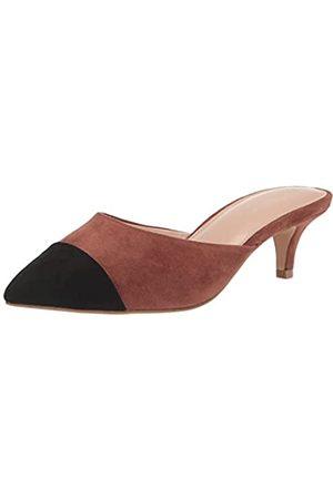 THE DROP Paulina Zapatos Destalonados con Puntera en Punta de Dos Tonos para Mujer