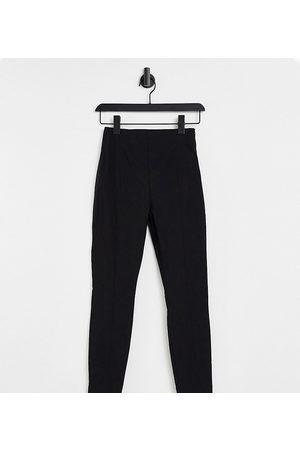 ASOS Pantalones negros de talle alto y corte pitillo de Petite