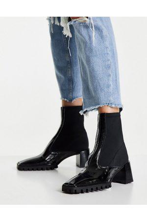 ASOS Botas negras estilo calcetín de cuero premium Remix de