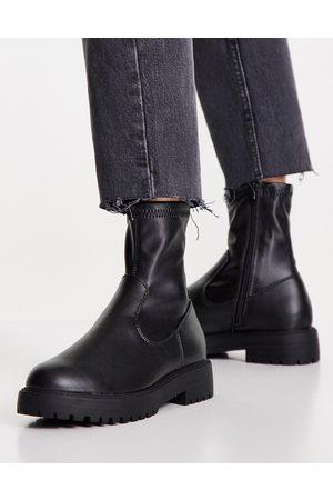 ASOS Botas negras de estilo calcetín Anton de