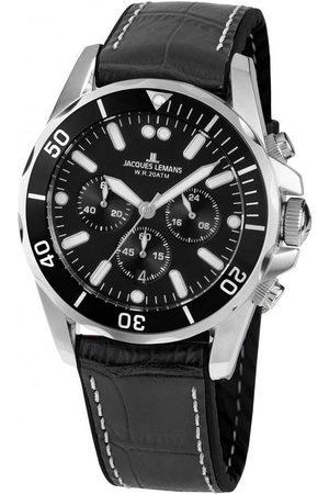 Jacques Lemans Reloj analógico 1-2091A, Quartz, 43mm, 20ATM para hombre