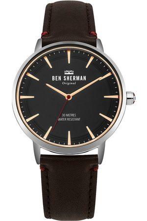 Ben Sherman Reloj analógico WB020BR, Quartz, 41mm, 3ATM para hombre
