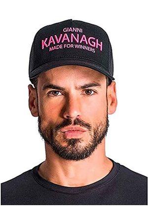Gianni Kavanagh Hombre Gorras - Black Cap with Neon Pink GK Made For Winners Logo Gorra de béisbol