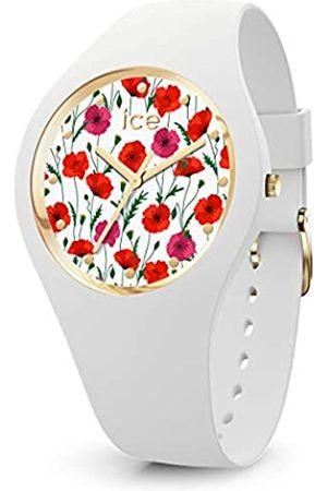 Ice-Watch ICE Flower White Poppy - Reloj Blanco para Mujer con Correa de Silicona