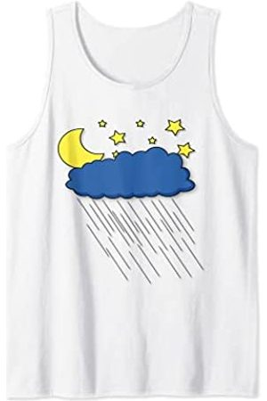 Fashion Tees Pijama de noche para dormir con lluvia Camiseta sin Mangas
