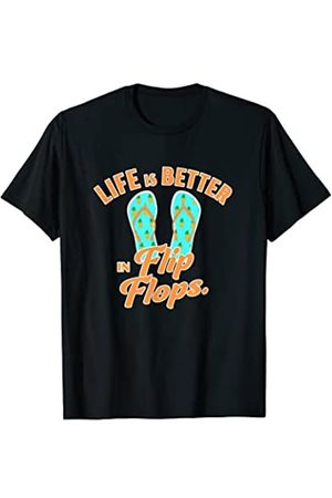 Summer time sun beach and vacation designs Life Is Better In Flip Flops