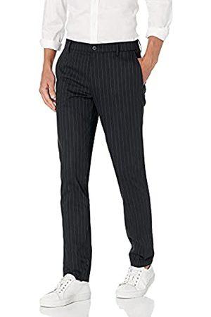Goodthreads Pantalón chino pitillo antiarrugas para hombre, Rayas Finas Negras (Black Pinstripe)