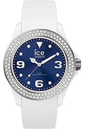 Ice-Watch Mujer Relojes - ICE Star White Deep Blue - Reloj para Mujer con Correa de Silicona
