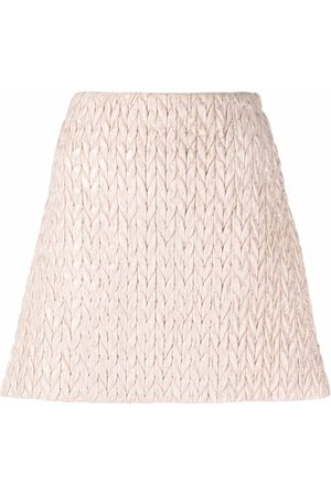 Miu Miu Quilted A-line skirt
