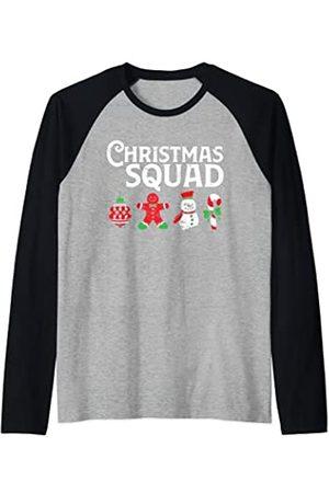Merch Jungle Pijama de Navidad con diseño de árbol de Navidad Camiseta Manga Raglan