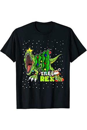 Niños niños Dinosaurio Rex Cool Kids Love T-Rex Árbol Rex Dinosaur Pijamas Luces de Navidad para hombres niñ Camiseta