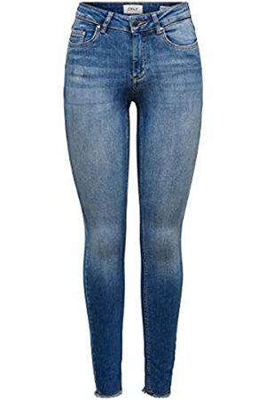 ONLY Onlblush Mid ANK Raw Jeans Rea1303 Noos Vaqueros Skinny