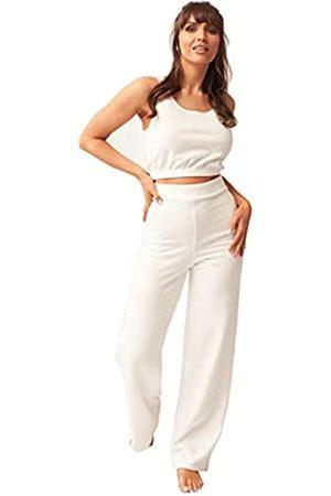OHS Brushed Rib Flares, Cream-Med Pantalones de Yoga
