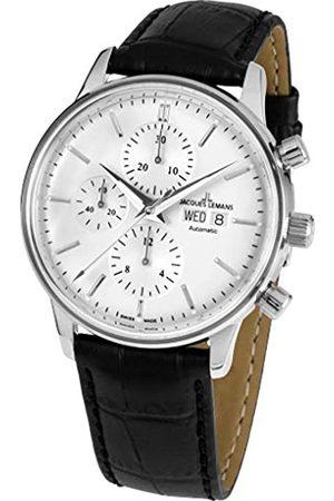 Jacques Lemans Reloj Cronógrafo para Hombre de Automático con Correa en Cuero N-208A