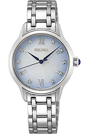 Seiko Reloj Analógico para Mujer de Cuarzo con Correa en Acero Inoxidable SRZ539P1