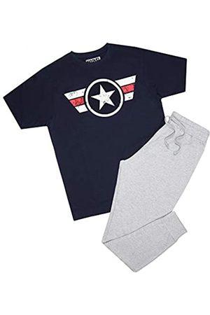 Marvel Captain America Logo Stripe Pyjama Set Juego de Pijama