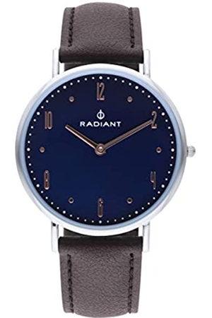 Radiant Reloj analógico para Hombre de . Colección Jensen. Reloj Plateado con Esfera Azul y Correa. 3ATM. 41mm. Referencia RA515603.