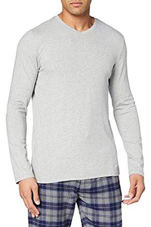 HUBER Herren Shirt Langarm Camiseta de Pijama