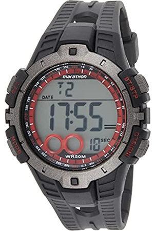 Timex Marathon T5K423 - Reloj Digital de Cuarzo para Hombres, Correa de Goma, Sumergible a 50 Metros