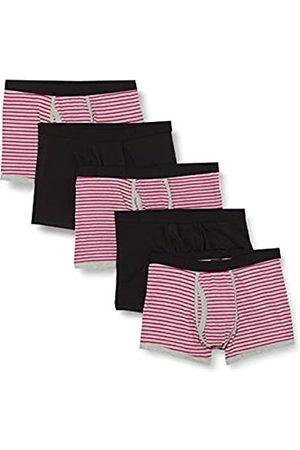 find. Marca Amazon - Calzoncillo Corto de Algodón Hombre, Pack de 5, (Neon Pink & Grey Stripes/Black), XXL
