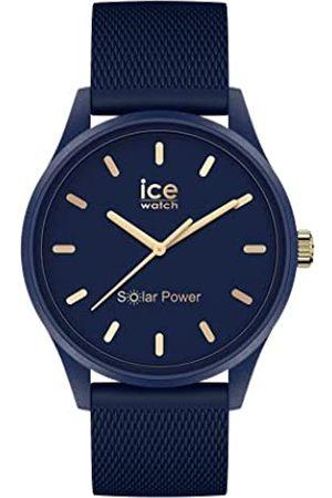 Ice-Watch Ice Solar Power Navy Gold Mesh Reloj con Correa de Silicona para Mujer, Medium