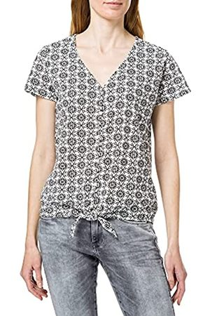 Blue Seven Damen Alloverdruck T-Shirt,V-Ausschnitt Camiseta