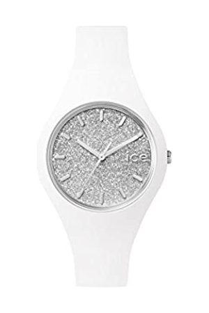 Ice-Watch Mujer Relojes - ICE Glitter White Silver - Reloj para Mujer con Correa de Silicona