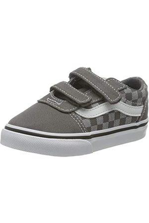 Vans Ward V-Velcro Canvas, Zapatillas Unisex bebé, Checker Dot Pewter/White