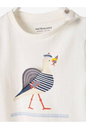 Vertbaudet Camiseta de manga corta con estampado de gaviota, para bebé claro liso con motivos