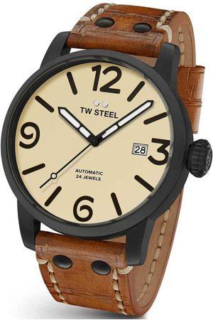TW steel Reloj analógico MS46, Automatic, 48mm, 10ATM para hombre