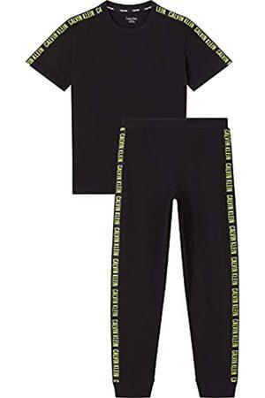 Calvin Klein Knit PJ Set (SS+Cuffed Pant) Juego de Pijama
