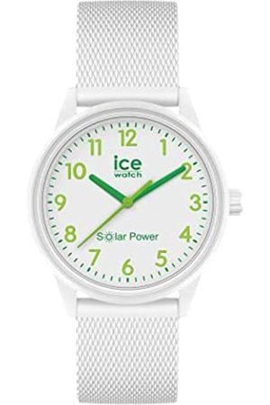 ICE-WATCH Ice Solar Power Nature Numbers Mesh Reloj con Correa de Silicona para Mujer, Small