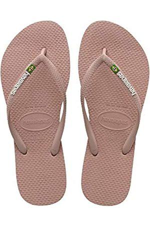 Havaianas Slim Brasil Logo, Chanclas para Mujer, (Crocus Rose 3544)
