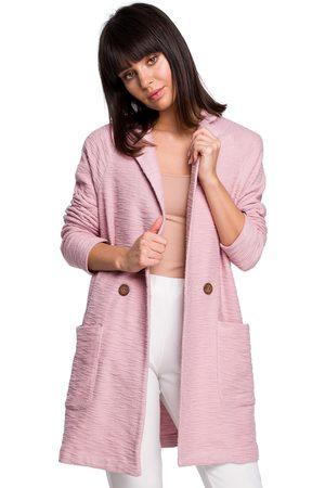BE Chaqueta de punto B120 Vestido midi ajustado y acampanado - rosa para mujer