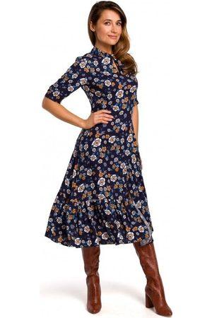 Style Vestidos S177 Vestido midi con estampado floral - modelo 2 para mujer