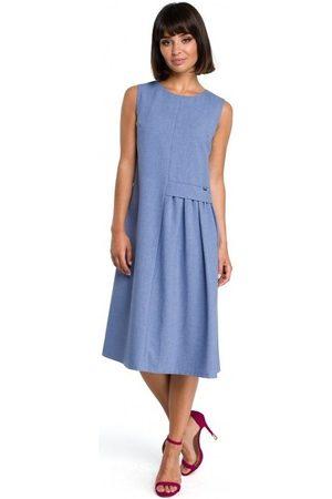 BE Vestido B080 Vestido midi sin mangas - azul para mujer