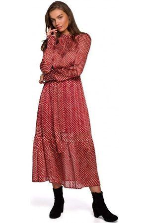 Style Vestido largo S238 Sukienka midi szyfonowa w groszki - modelo 3 para mujer