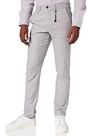 Springfield Hombre Pantalones chinos - Chino Lino Estructura Bicolor Pantalones