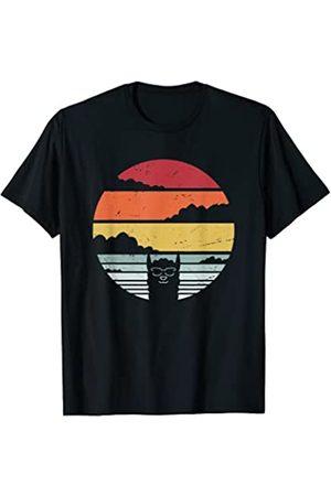 Hermosos trajes de alpaca Lama Vintage Lama Vintage T-Shirt retro alpaca sunset fun Camiseta