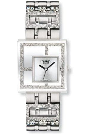 Swatch Irony Square Mirror Time Yus 100G - Reloj de Mujer de Cuarzo