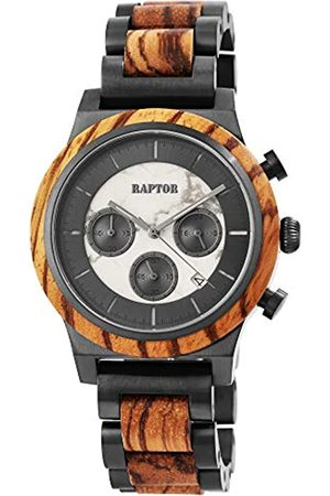 Raptor Reloj Análogo para de los Hombres de Cuarzo con Correa en Madera RA20321-003