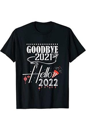 Happy New Year 2022 Gifts Goodbye 2021 Hello 2022 - Pijama Feliz Año Nuevo Camiseta
