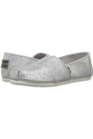 TOMS YOUTH ALPARGATA Silver Iridescent Glimmer UK1.0