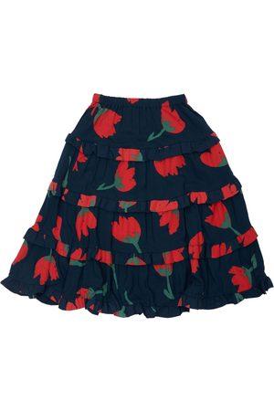 BOBO CHOSES   Niña Falda De Ecovero Con Estampado Floral Y Volantes /rojo 10/11a