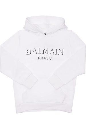 BALMAIN | Niña Sudadera De Algodón Con Logo 10a